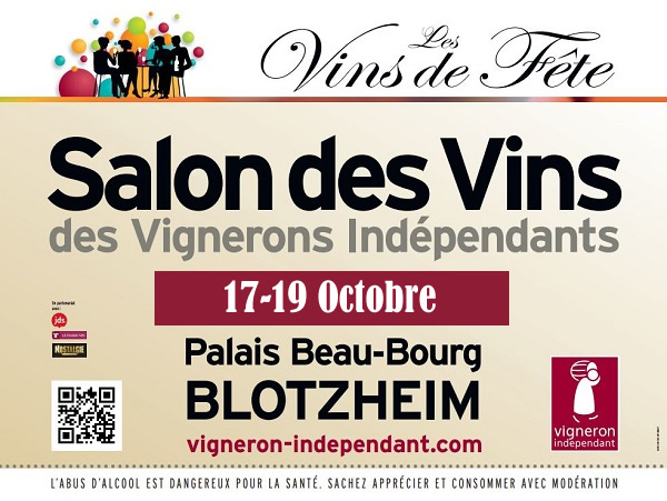 17 19 octobre vignerons ind pendants blotzheim alsace - Invitation salon des vignerons independants ...